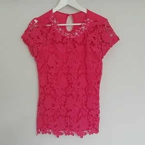 Tops - Nordstrom Diamond/pearl studded lace top